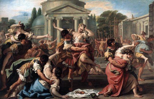 Sébastiano Ricci, L'enlèvement des sabines (tableau). Illustration du clash Raptor Dissident - Marion Seclin - harcèlement de rue féminisme.